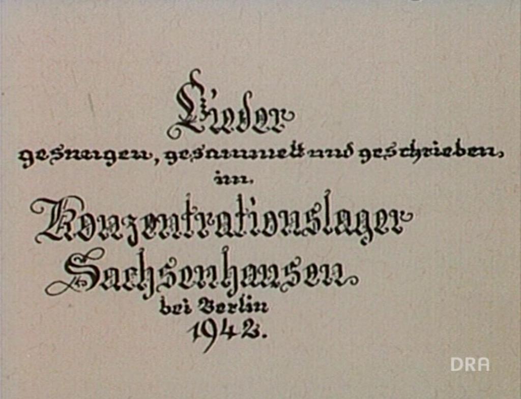 Von der Kraft des Liedes (1984): Liederbuch aus Sachsenhausen