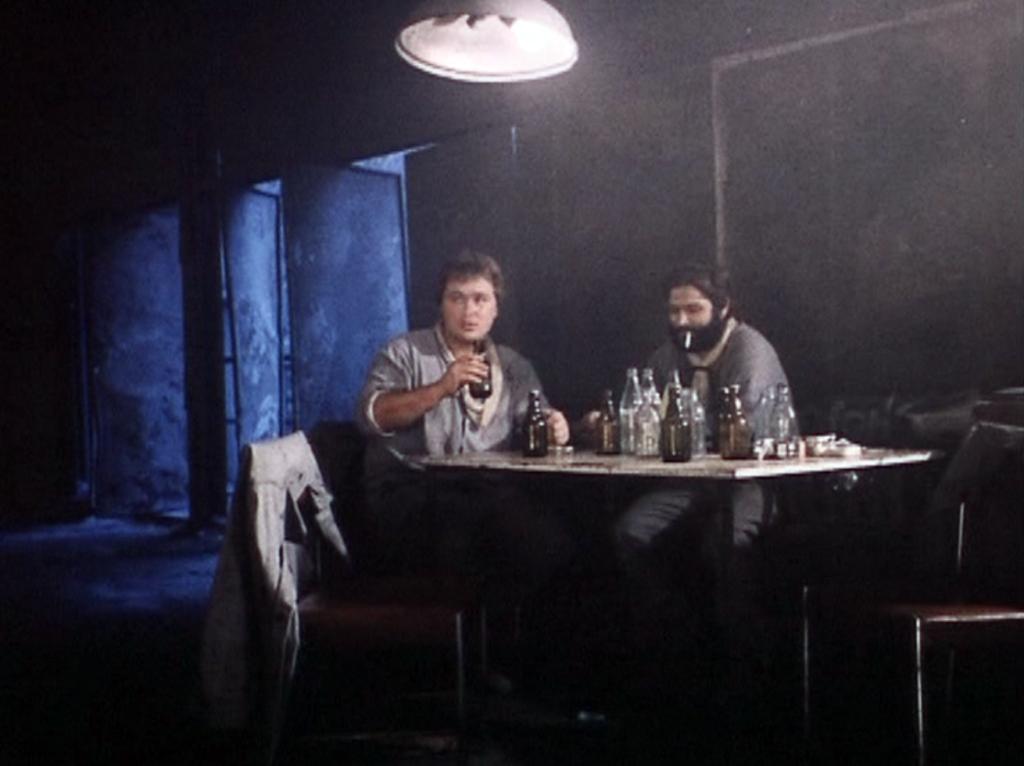 Filmfoto: Pause in der Karbidfabrik