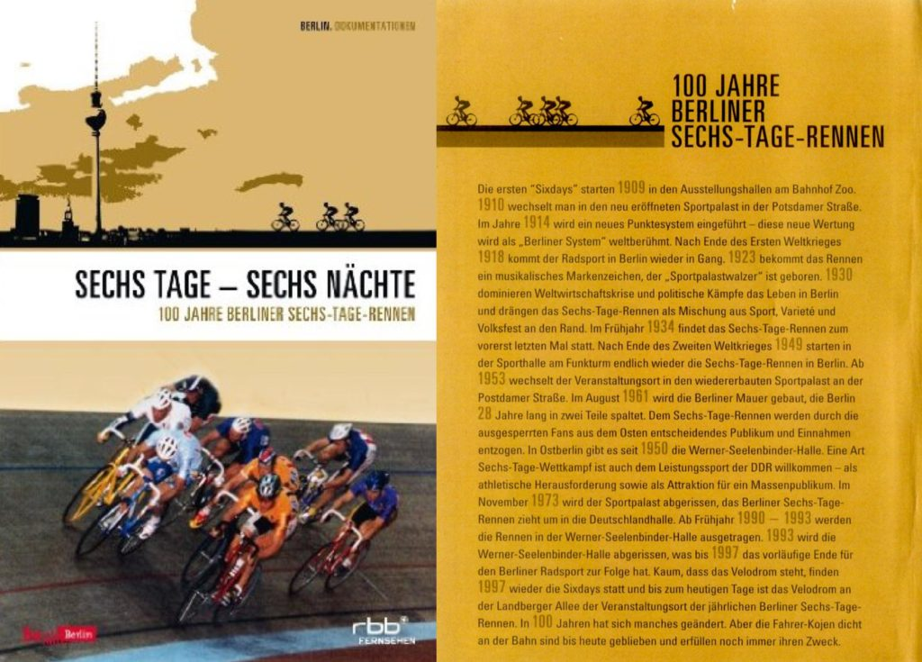 DVD-Cover zum Film: Sechs Tage - Sechs Nächte - 100 Jahr Berliner Sechstagerennen