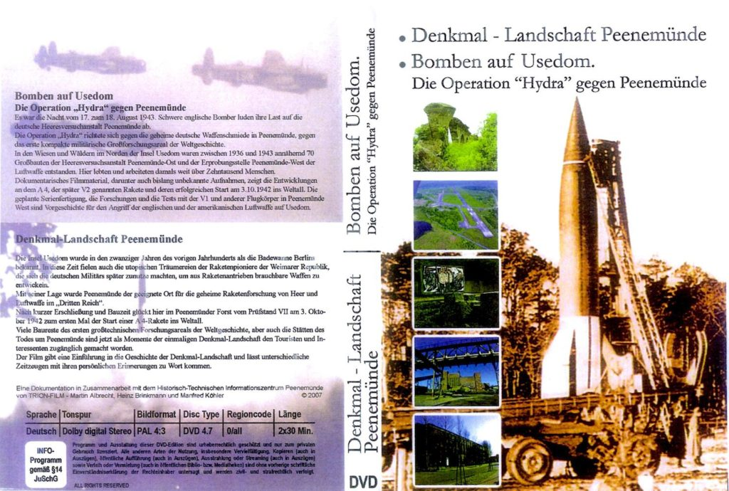 DVD-Cover: Denkmal - Landschaft Peenemünde | Bomben auf Usedom