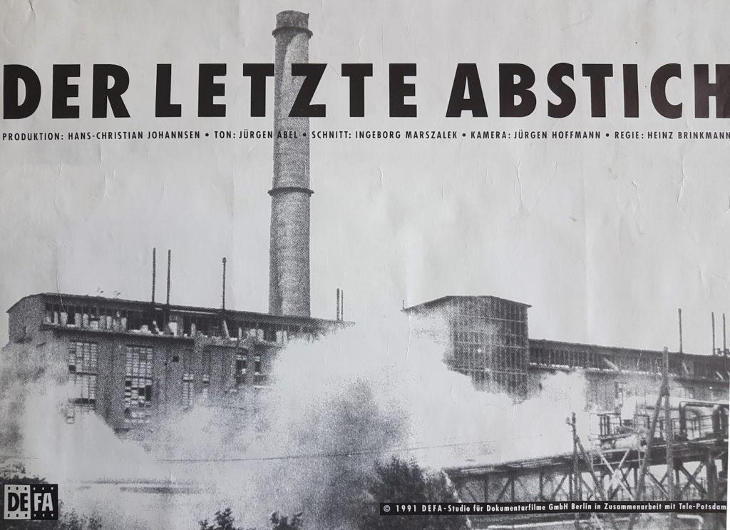 """Filmplakat """"Der letzte Abstich"""" Rückseite (Design und Satz: Jürgen Hoffmann)"""