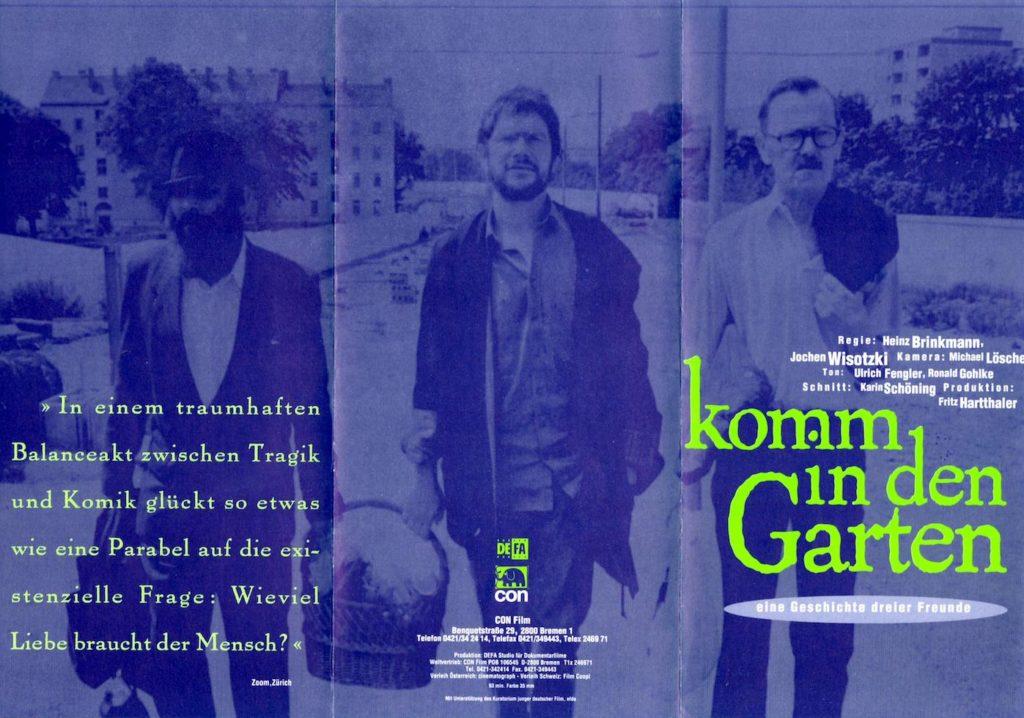 Filmflyer: Komm in den Garten (Vorderseite)