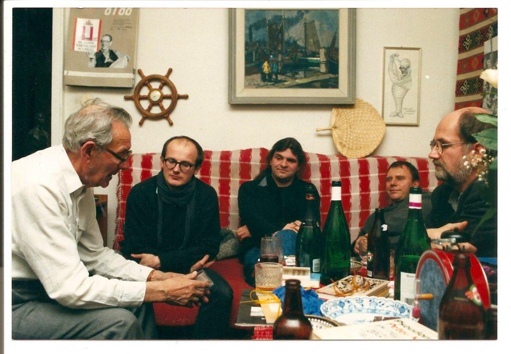 Von der Kraft des Liedes (1984): Eberhard Schmidt mit Mensching und Wenzel (und dem Filmteam)