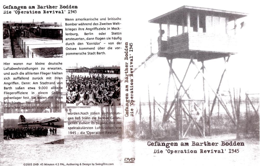 DVD-Cover: Gefangen am Barther Bodden. Doe 'Operation Revival' 1945
