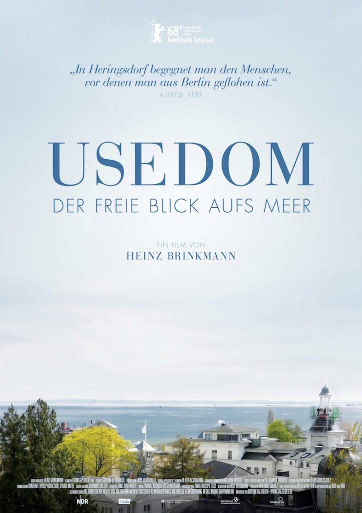 Usedom. Der freie Blick aufs Meer. Plakat zur Aufführung auf der Berlinale 2018 in der Rubrik: Berlinale Special